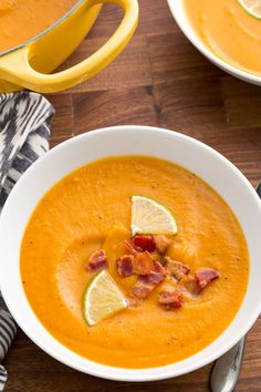 Bacon-Sweet Potato Soup  - Delish.com