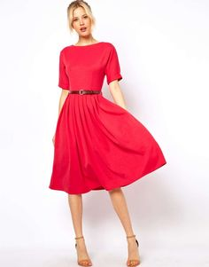 ASOS Midi Dress With Full Skirt And Belt on Wantering | Neon Love | womens neon red midi dress | fashion | trends | style | wantering http://www.wantering.com/womens-clothing-item/asos-midi-dress-with-full-skirt-and-belt/aaxiZ/