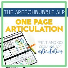 Keeping students engaged during articulation therapy can be tough. We can't have multiple activities at the ready...or can you? These pages are filled with high-frequency words that students encounter daily in school. 7 DIFFERENT ACTIVITIES on one page! #SLP #speechtherapy #articulation