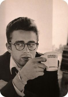 Of course he would...James Dean drinking coffee.