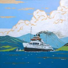 Cowal Open Studios to the September throughout the Cowal Steamers, Artist Profile, Seascape Paintings, Ship Art, 1930s, Boats, Scotland, Nautical, Studios