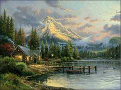 Available Studio Proofs - Lakeside Hideaway 16x20 SP - Thomas Kinkade Online