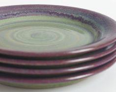 Made to order. Set of four. Dinnerware, stoneware dinnerware, pottery dinnerware, ceramics and pottery, stoneware plate, pottery plate.