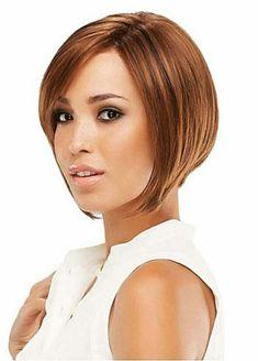 coiffure courte pour cheveux marron chocolat