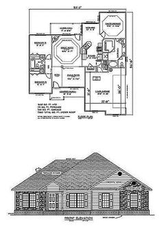 Building Plans and Blueprints 42130: House Plans For 1630 Sq. Ft. 3 Bedroom House W Garage -> BUY IT NOW ONLY: $75 on eBay!