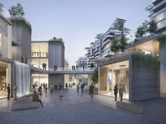 Image 2 of 9 from gallery of ODA Designs Tiered Garden Complex as its First Project in China. Courtesy of Filippo Bolognese Images Retail Architecture, Chinese Architecture, Futuristic Architecture, Architecture Design, In China, Commercial Complex, Commercial Street, Passive Design, Tiered Garden
