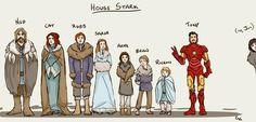 Ritratto di famiglia Stark.  #scoval'intruso  #troppofacile:D pic.twitter.com/l4jBjZ30Om