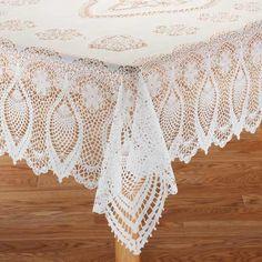 vinyl lace tablecloth. beautiful ideas. Home Design Ideas