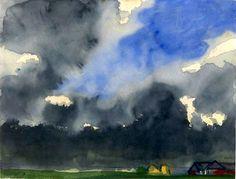 Emil Nolde, German, 1867-1956  Rain over a Marsh