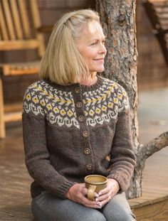 30 Great Photo of Colorwork Knitting Patterns Sweaters . Colorwork Knitting Patterns Sweaters Knit Sweater Patterns And More For The Whole Family Interweave Cardigan Design, Knit Cardigan Pattern, Sweater Knitting Patterns, Icelandic Sweaters, Knit Leg Warmers, Fair Isle Knitting, Knit Jacket, Cardigans For Women, Ladies Sweaters