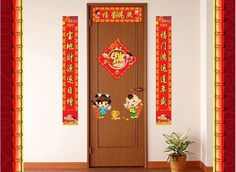 2017 New Year Decoration Chinese couplets Removable wall glass door Sticker AM9093 home decoration Picture