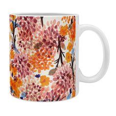 Joy Laforme Floral Forest Orange Coffee Mug | DENY Designs Home Accessories