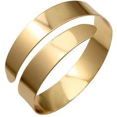 Amazon.com: Gold Plated Q&Q Fashion Egypt Cleopatra Swirl Snake Upper... ($8.99) ❤ liked on Polyvore featuring jewelry, bracelets, swirl jewelry, arm cuff jewelry, snake bangle bracelet, bangle jewelry and adjustable bangle