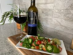 Mastronardi Estate Winery 2017 Cabernet Sauvignon with Oven Roasted Chili Lime Salmon w Avocado Salsa. Black Cherry Fruit, Essex County, Chili Lime, Complete Recipe, Salmon Fillets, Oven Roast, Fresh Lime Juice, Cabernet Sauvignon, Wineries