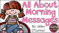 Hello friends!! :) It's Haley here from My Silly Firsties ! :) I wanted to blog a little bit about Morning Messages today. It's such a fun ...