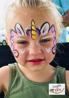 Face Painting Images, Face Painting For Boys, Face Painting Tutorials, Face Painting Designs, Easy Face Painting, Diy Face Paint, Face Paint Makeup, Face Painting Unicorn, Unicorn Face