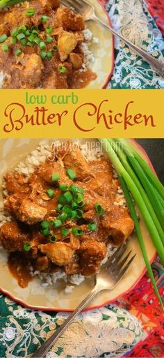 SUPER easy low carb butter chicken recipe that you can quickly make on the stovetop or in a slow cooker! THM S or Crossover