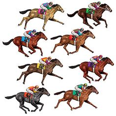 Our Race Horse Props Shows A Variety Of Complete With Jockeys In Their Colorful