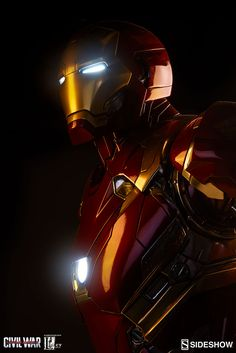 The Iron Man Mark XLVI Legendary Scale Figure is available at Sideshow.com for fans of Marvel's Captain America: Civil War and Tony Stark.