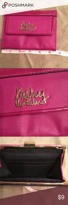 "Kathy Van Zeeland leather wallet Magenta leather wallet by KATHY VAN ZEELAND 5.5"" LONG ..... no stains no rips/holes EUC questions welcomed and thank you for visiting my closet Kathy Van Zeeland Bags Wallets"