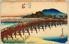 Hiroshige Ando 1797-1858 - 53 Stations of the Tokaido (Hoeido) - Okazaki