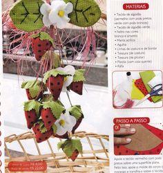 Carol Craft: Morangos de tecido