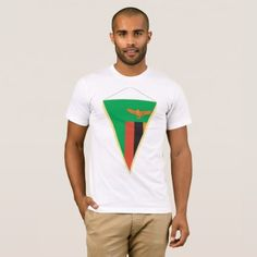 #Zambia Flag Triangle Mens T-Shirt - #country gifts style diy gift ideas