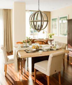 Comfortable Apartment in Spain, design, décor, interior, Spain, apartment, cozy, light, dining room