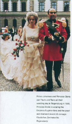 Prince Johannes and Princess Gloria von Thurn and Taxis 1980