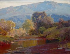 """""""Blue Hills and Winding Rivers,"""" Hanson Puthuff, oil on canvas, private collection."""