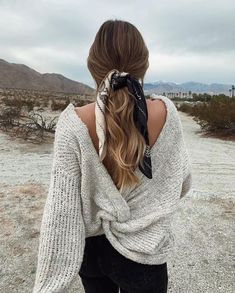 Glamorous Hair Accesories & Hairstyles For New Year - Frisuren femme Scarf Hairstyles, Messy Hairstyles, Hairstyle Ideas, Hairstyles 2016, Cute Fall Hairstyles, Evening Hairstyles, Beautiful Hairstyles, Womens Fashion Online, Latest Fashion For Women