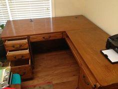image 1 L Shape, Hardwood, Desk, Image, Style, Writing Table, Swag, Desktop, Office Desk