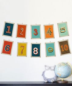 Look at this Children Inspire Design Old School Numbers Card Set on #zulily today!
