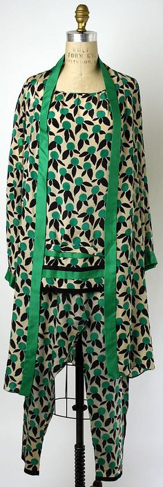 Loungewear, Edward Molyneux (French, born Britain, 1891–1974): 1928, French, silk.
