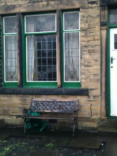 Edwardian stained glass windows in a house in Bradford 1890