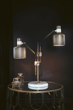 Riddle Table Lamp by Bert Frank