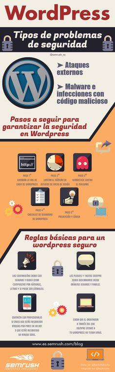 WordPress: Tipos de problemas de seguridad #infografia #infographic #socialmedia