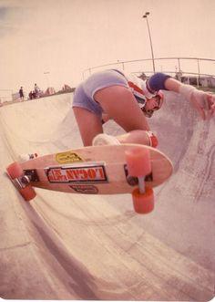Cindy Whitehead. Skateboard World Skatepark. Circa 1977
