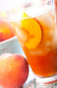 Diary of a Fit Mommy: Thirsty Thursday: Fresh Peach Tea Cocktails, Non Alcoholic Drinks, Daiquiri, Summer Drinks, Fun Drinks, Fruity Drinks, Beverages, Tea Recipes, Cooking Recipes