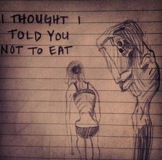 Anorexia I sketched my view of anorexia ... This is ana ..