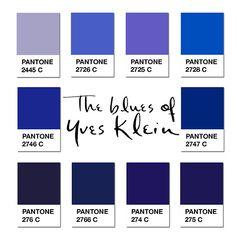 Yves Klein Blue Pantone Den ene af de yves klein