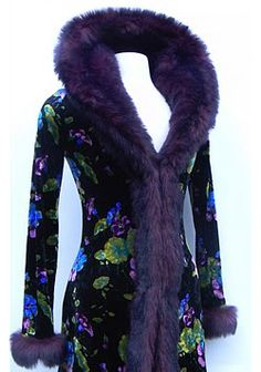 Vintage Betsey Johnson velvet duster coat