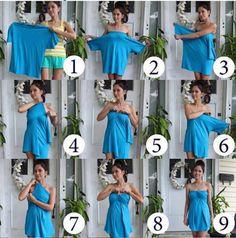 DIY T-shirt Dress! Good bathing suit cover up idea