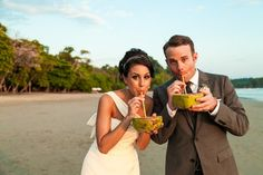 Pin for Later: Amazing Drink Ideas For a Dry Wedding Coconut Water For tropical-themed weddings, consider serving up fresh coconut water. It's especially amazing to watch the coconuts hacked open with a cleaver.