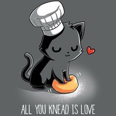 Kitty the cook - Nice - Cat Drawing Cute Animal Drawings, Kawaii Drawings, Cute Drawings, Crazy Cat Lady, Crazy Cats, I Love Cats, Cute Cats, Adorable Kittens, Cartoon Mignon