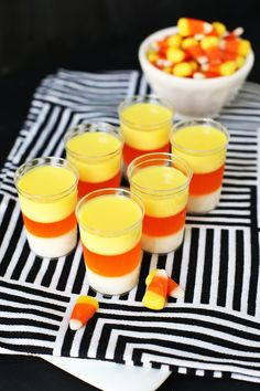Candy Corn Jell-o Cocktail Shot
