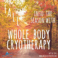 Celebrate the first day of fall with a cool, relaxing cryotherapy session!