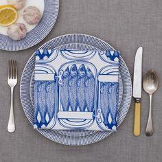 Delft Blue Sardine Tin Napkin