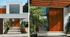assim eu gosto porta entrada madeira freijo moderna linda