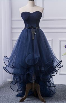Strapless Sweetheart Ruffle Prom Dresses, High-Low Prom Dress, Evening Dress, Featuring Lace-Up Back - Metarnews Sites High Low Prom Dresses, Backless Prom Dresses, Dress Prom, Short Dresses, Dresses For Teens, Girls Dresses, Bodycon Dress Parties, Party Dresses, Designer Dresses